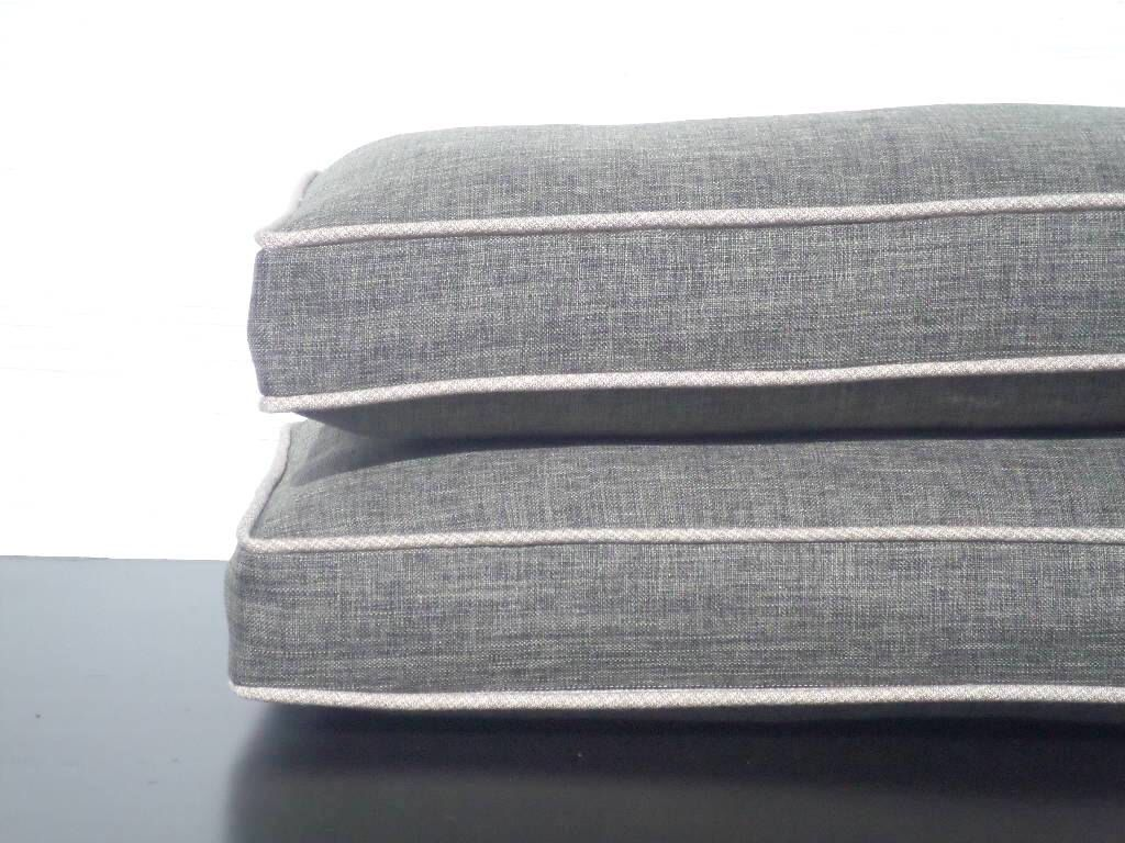 boxed chair cushions unusual sofas and chairs one dark gray cushion grey pillow sham accent piping