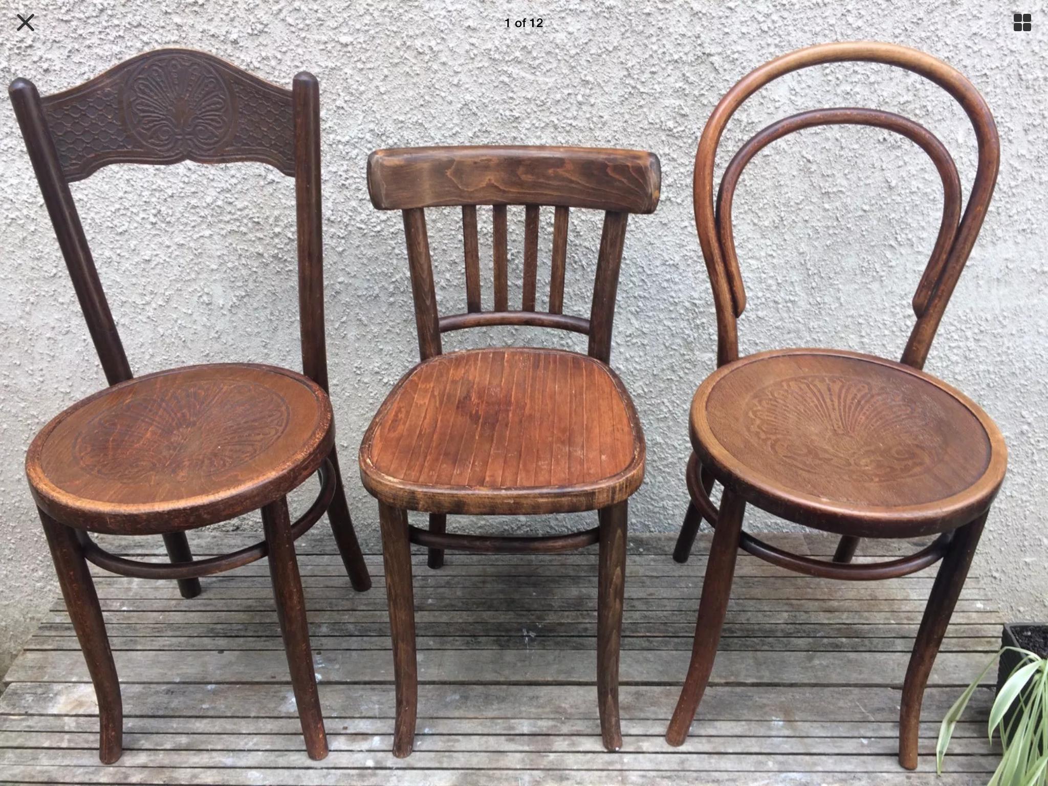 bentwood bistro chair. 1920s Bentwood Mundus Thonett Bistro Chairs Chair