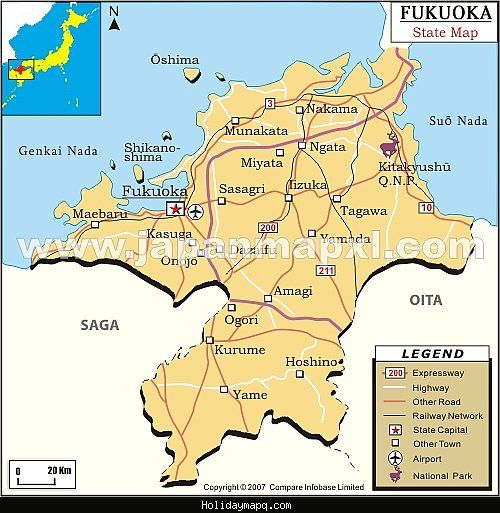 cool Fukuoka Map Holidaymapq Pinterest
