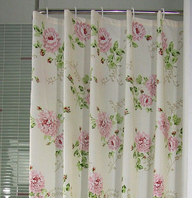 Wonderful Tayohya Rose Shower Curtain Waterproof Shower Curtain Pink Blue