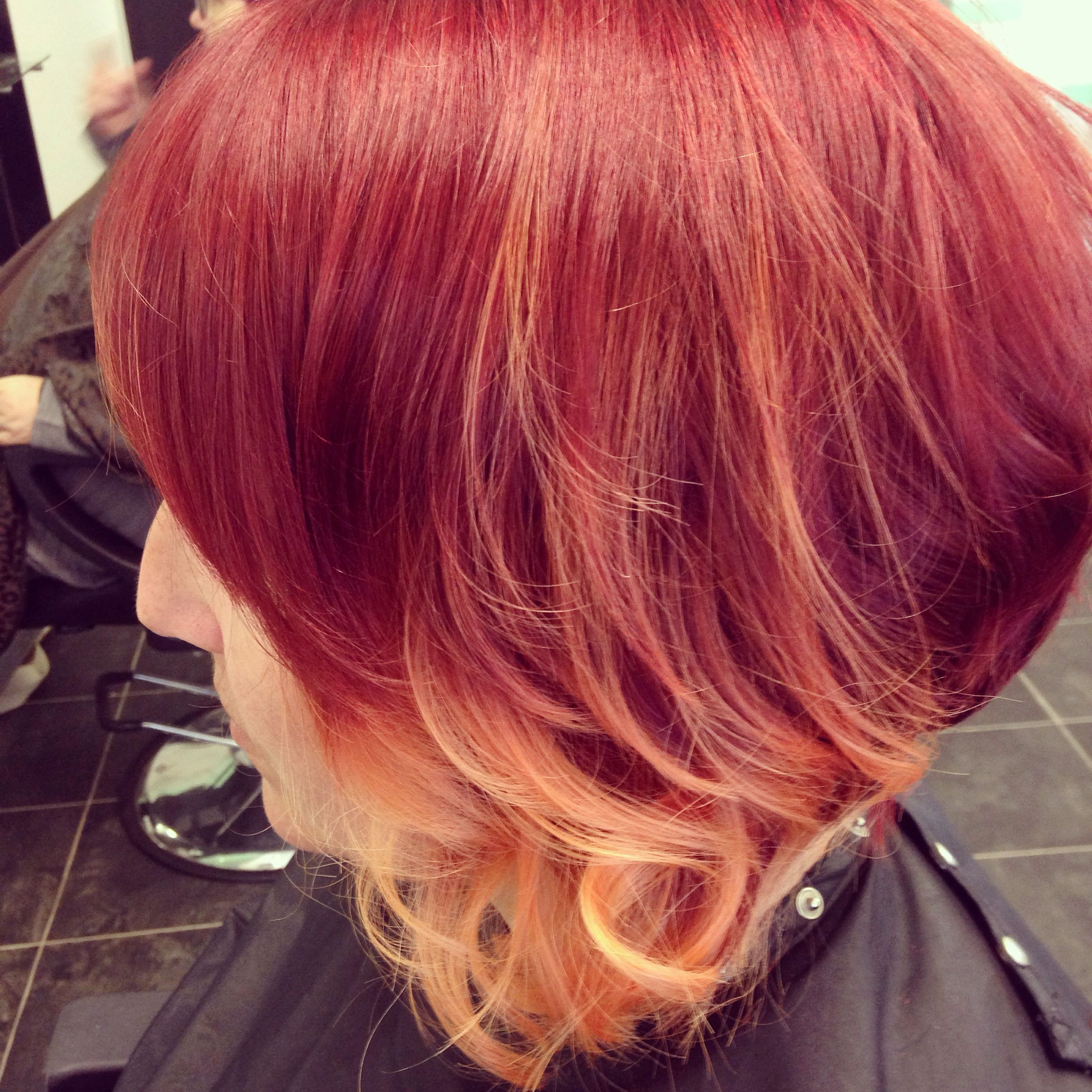 Red short ombré I created