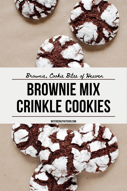 Brownie Mix Crinkle Cookies Recipe Crinkle Cookies Crazy