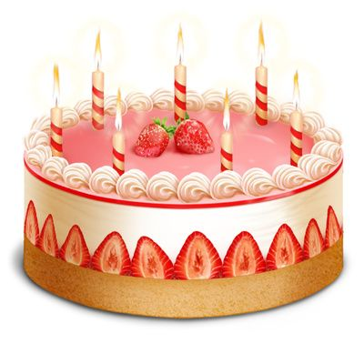 Clip Art Of Birthday Cake With Candles : Pink Birthday Cake Clip Art ... six birthday candle ...