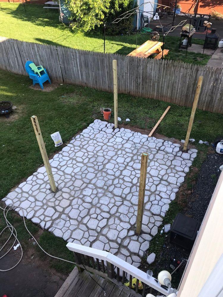 DIY Patio With WalkMaker Mold (With images) | Diy patio ... on Diy Concrete Patio Ideas id=79200