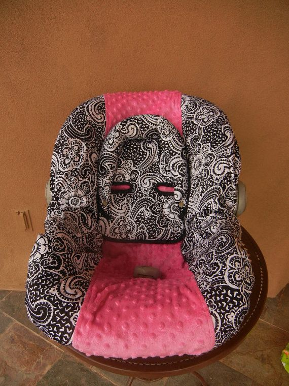 Baby car seat cover girl car seat cover Infant carseat by isewjo, $75.00