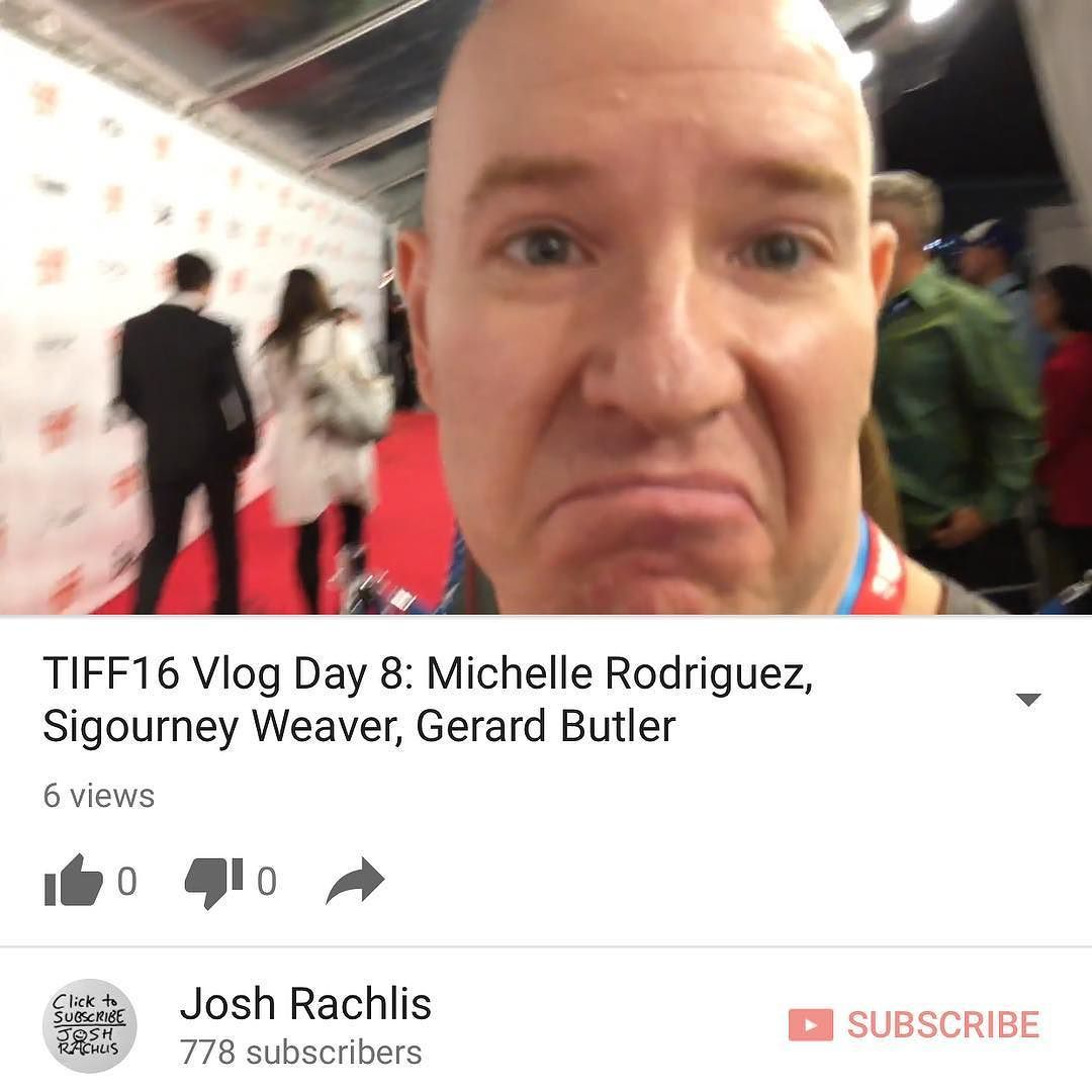 Day 8 of my vlog from @tiff_net is up at http://youtube.com/joshrachlis. I see Michelle Rodriguez and Sigourney Weaver interview Adrian Hough see @gerardbutler interview @maxwelljenkins8. (Wed. Sep. 13 2016)  Celebrities featured: #MichelleRodriguez #SigourneyWeaver #AdrianHough #GerardButler #MaxwellJenkins  #TIFF16 #TIFF #vlog #filmfestival #Hollywood #Toronto #celebrities  I am a: #TravelBlogger #LifestyleBlogger #foodblogger #entertainmentblogger #vlogger #YouTuber #podcaster #radiohost…