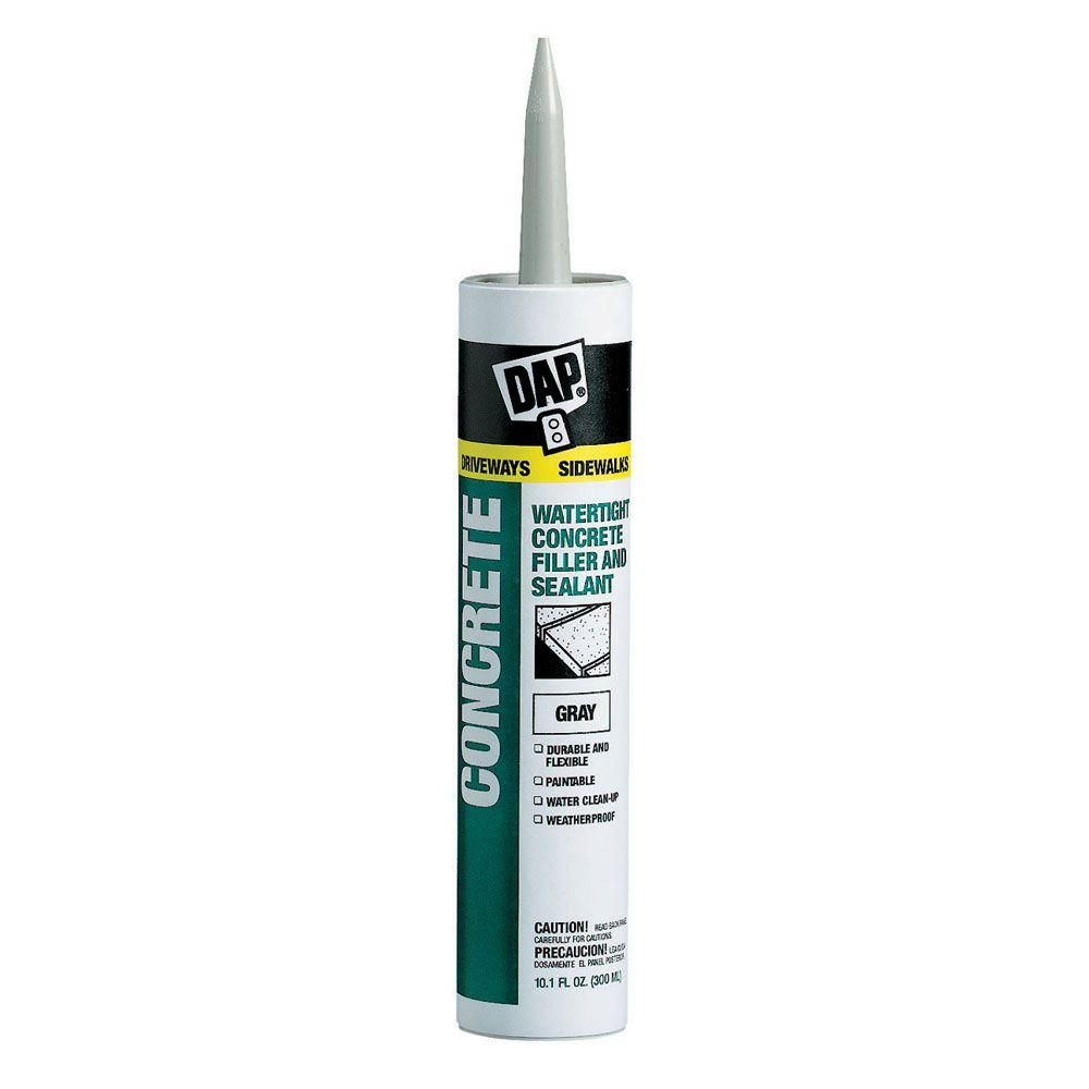 DAP 10.1 oz. Gray Concrete, Mortar Waterproof Filler and Sealant ...
