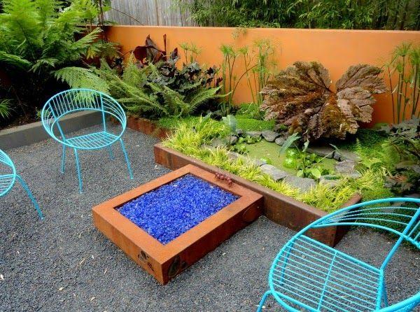 Colores Para Las Paredes Del Patio O La Terraza Jardines De Pared Jardines Decoracion De Patio Exterior