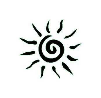 Photo of Geometric Tattoo – Sun stencil for temporary tattoo Unik tattoo