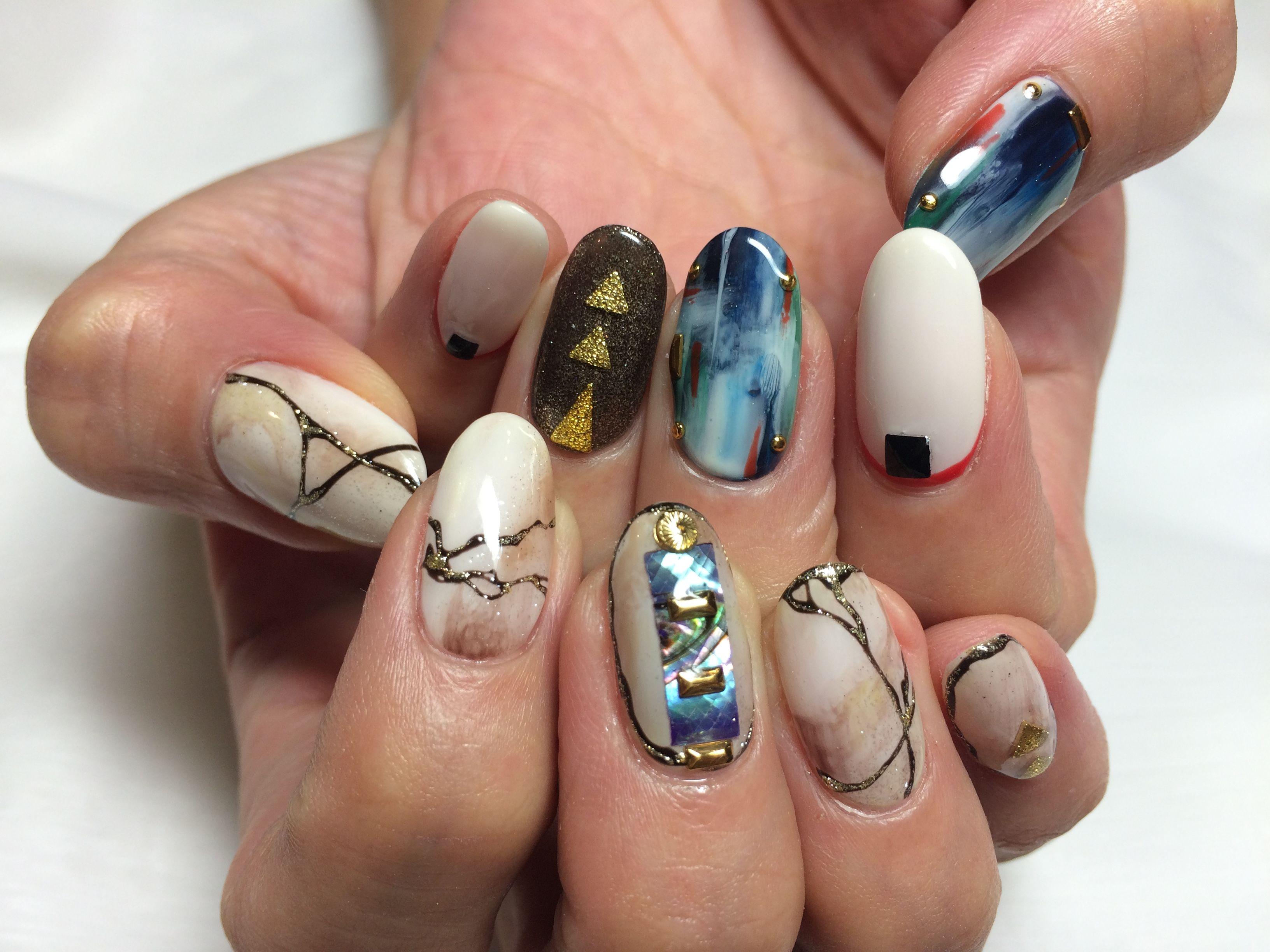 Köp 24pcs/lot Fake Nail Cute Design Nail Art False Tips