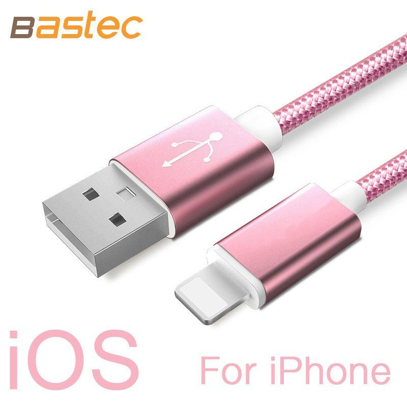 USB Charger Nylon Cable -Suitable for iPhone 6 6s Plus 5s 5 iPad ...