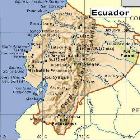 Ecuador RICOCHET Pinterest Ecuador Guayaquil And South America - Map of ecuador south america