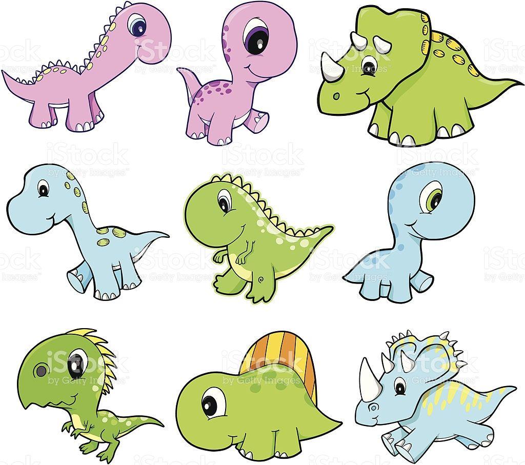 Cute Dinosaur set | Vector art