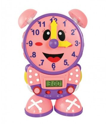 Tick tock tick tock! Help you kids learn how to tell time with The Learning Journey's Telly The Teaching Time Clock! With a digital and analog clock, you children can learn how to tell time from any clock! Adjust the hands to practice, or put Telly in quiz mode! tlji.com