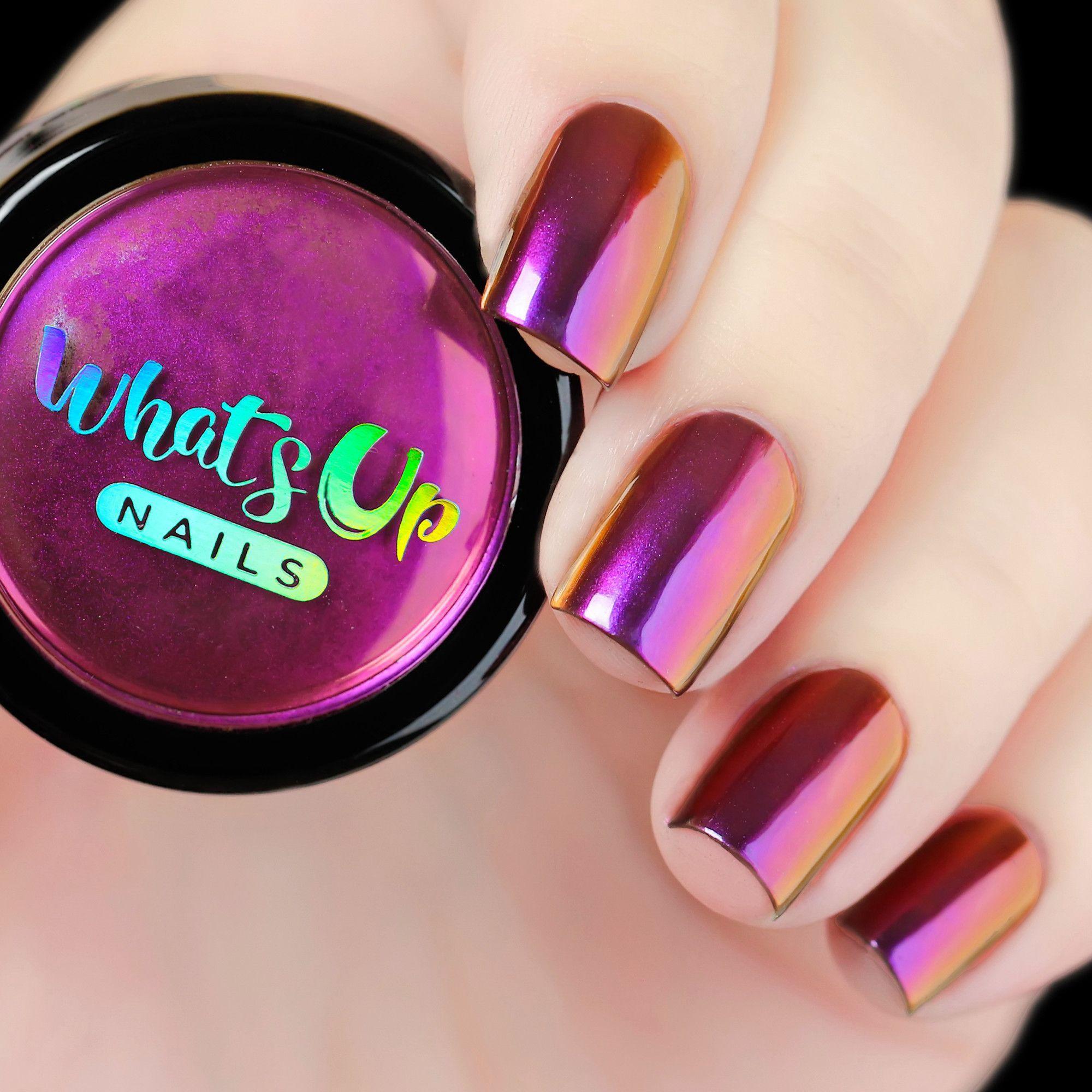 Fantasy Powder | Uñas espejo, Diseños de uñas y Uñas metálicas