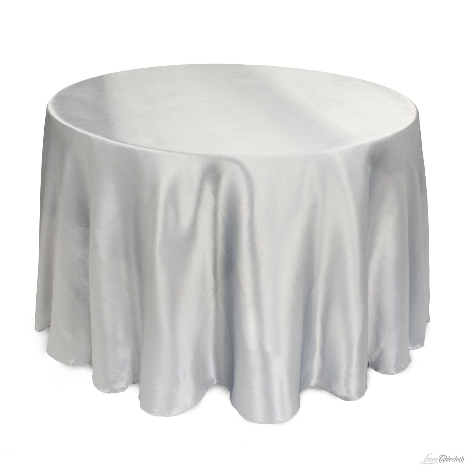 Buy 108 Inch Round Grey Satin Tablecloth For Weddings At Linentablecloth Seamless And Machine Washable Table Line White Table Cloth Table Cloth Colorful Table