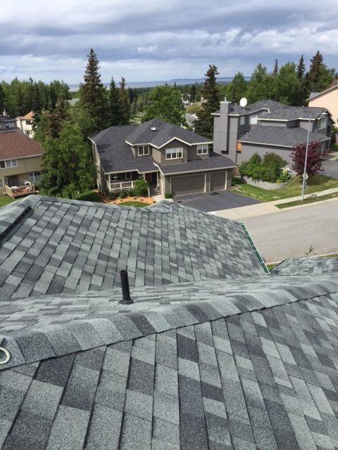 Premier Roofing Co 907 346 4131 Anchorage Alaska Malarkey 3m Legacy Shingles Oxford Grey Roof Replacement Cost Roofing Roofing Contractors
