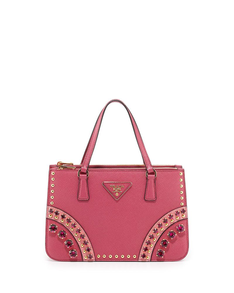 aecced873147 100% AUTHENTIC NEW PRADA SAFFIANO FUCHSIA TOTE BAG WITH METAL STUDS@ebay  @pinterest #guccigang #carrying #purse #leather #bags
