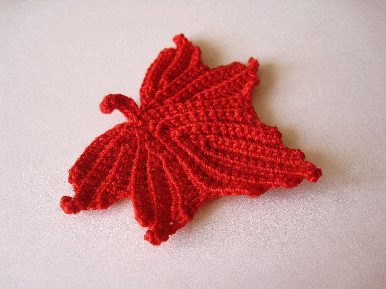 crochet leaf blanket patterns | Crochet Maple Leaf | Craft Ideas ...
