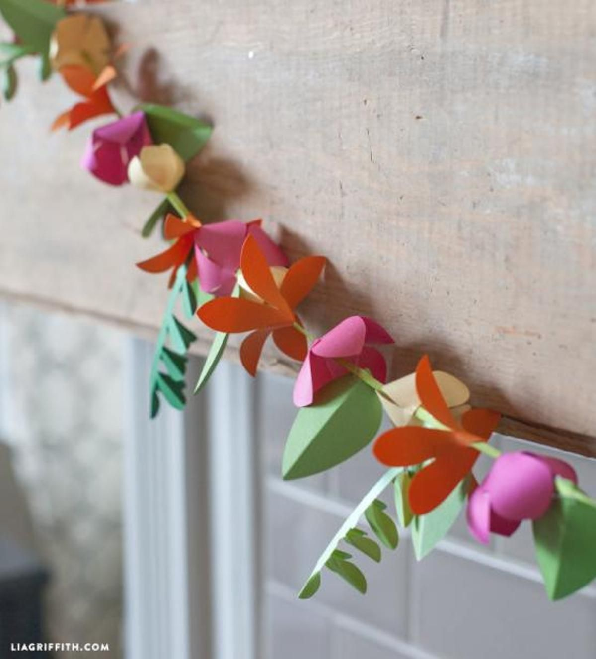 Paper Flower Lei From Lia Griffith Silhouette Pinterest Flower