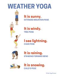 weather yoga poster  yoga poster yoga for kids yoga