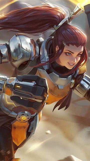 360x640 wallpaper Warrior, Brigitte, warrior, overwatch, art