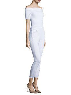 3x1 - Off-The-Shoulder Denim Jumpsuit