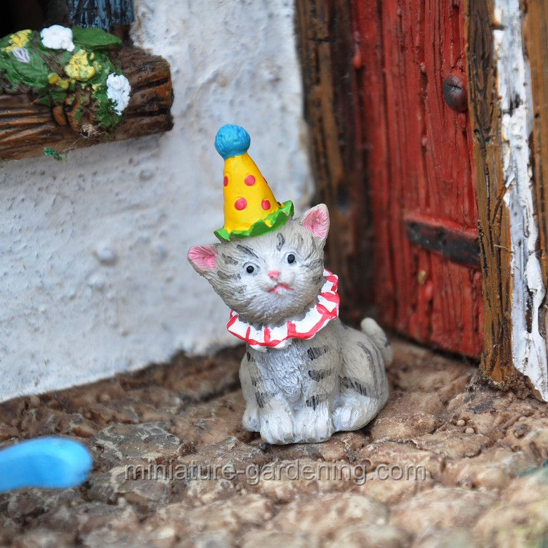 Birthday Cat Birthday CatsAnimal BirthdayFairy GardensDollhousesMiniature Birthday