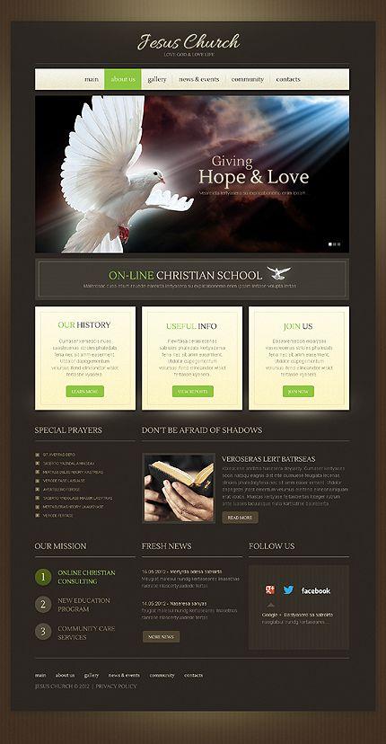 Template 42134 - Jesus Church WordPress Theme | Church & Christian ...