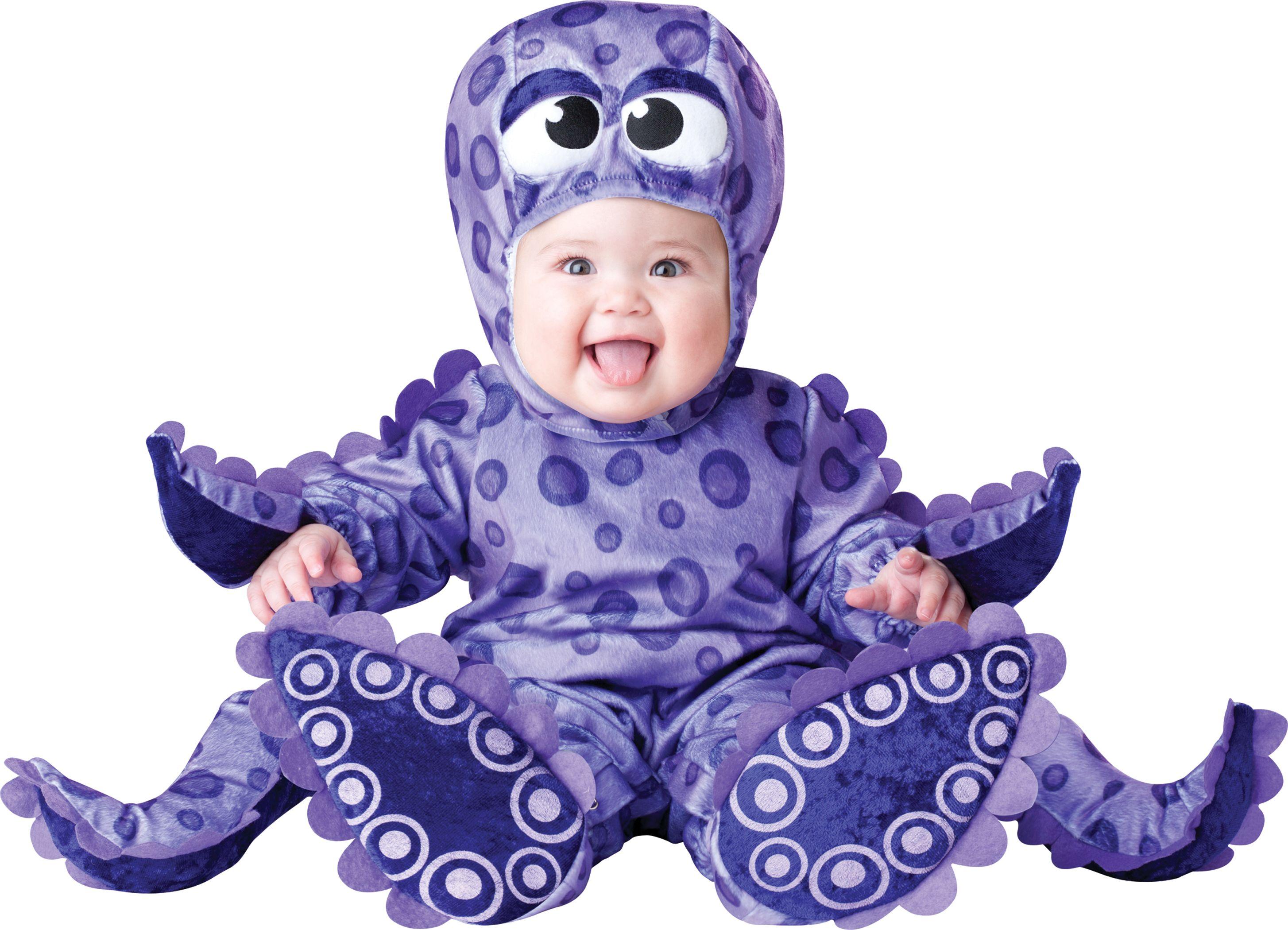 Baby Purple Octopus Infant esie Halloween Fancy Dress Costume