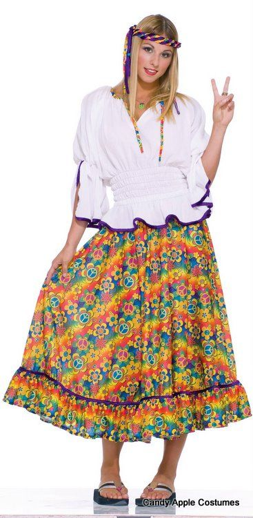 Adult Woodstock Girl Hippie Costume - Candy Apple Costumes - Browse All Womenu0027s Costumes  sc 1 st  Pinterest & Adult Woodstock Girl Hippie Costume - Candy Apple Costumes - Browse ...