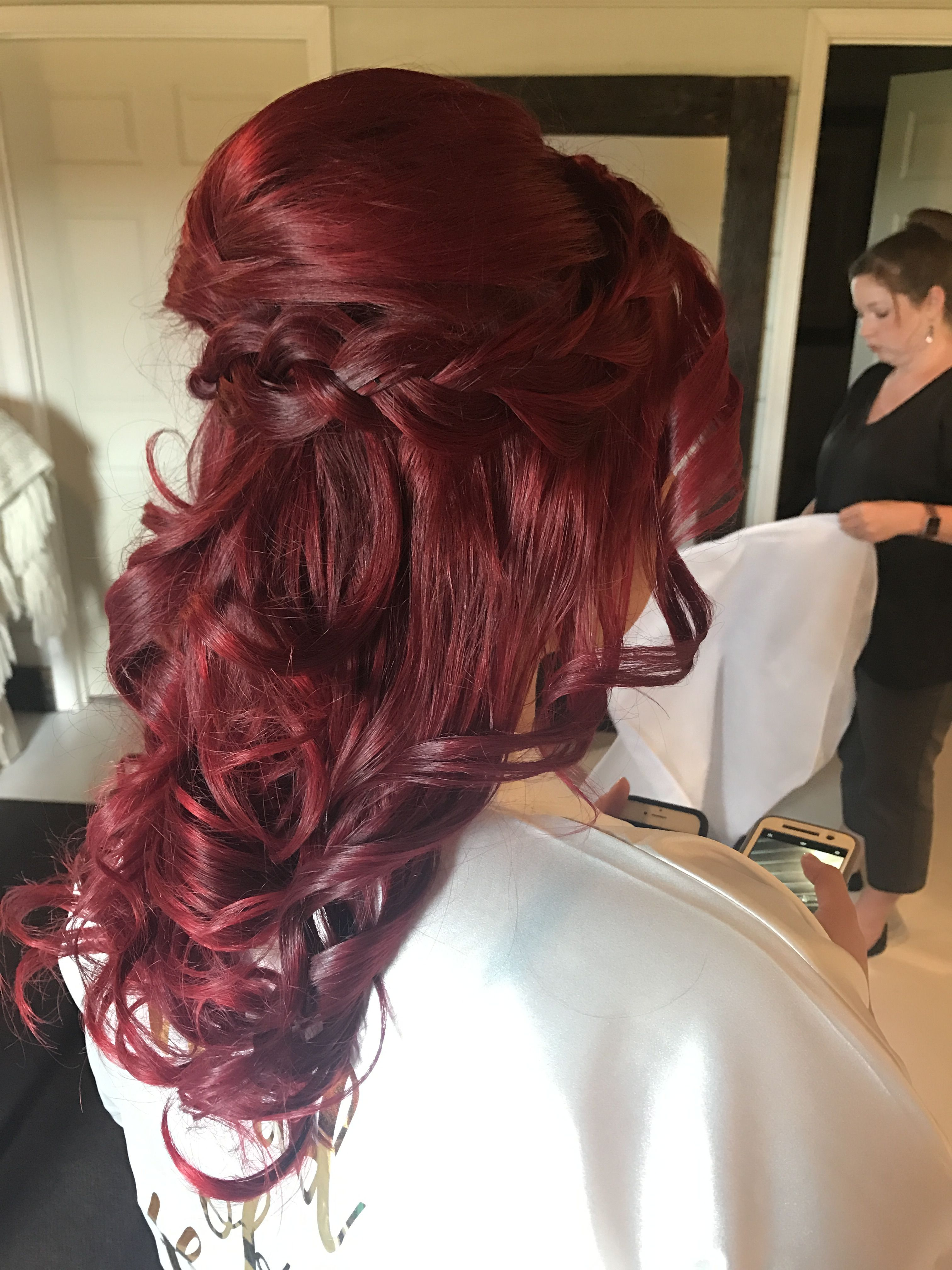 Braided half up bridesmaid hair by yours truely pinterest