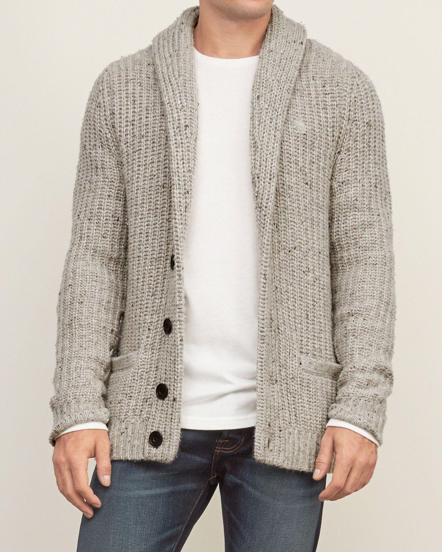 Mens - Shawl Cardigan Sweater | Mens - Sweaters | eu ...
