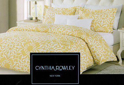 Amazon Com Cynthia Rowley Damask Lattice Scrolls Medallion Pattern Full Queen Duvet Cover And Shams 3pc Set Must Queen Duvet Covers Duvet Covers Cute Bedding