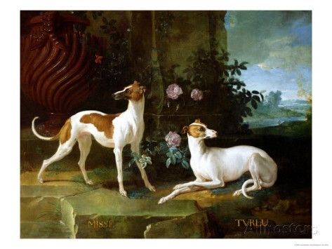 Jean Oudry Misse and Turlu Two Greyhounds Vintage Fine Art Print