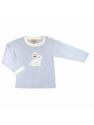 16811bf9 MeMini Rabbit Sweater, Baby Blue, lyseblå kaningenser til baby ...
