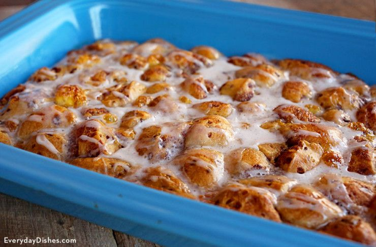 Holiday Overnight Cinnamon Roll Casserole Recipe