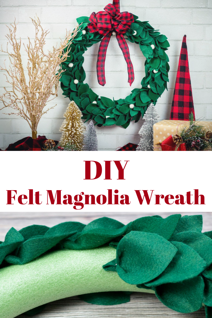 DIY Christmas Magnolia Wreath Holiday crafts christmas
