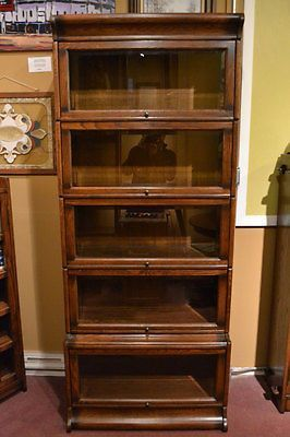 Mission Oak Barrister Bookcase 5 Stack High Bookcase With Glass