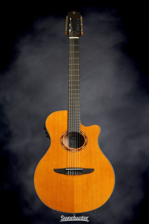 Yamaha Ntx700c Classical Cutaway Natural Acoustic Electric Acoustic Guitar