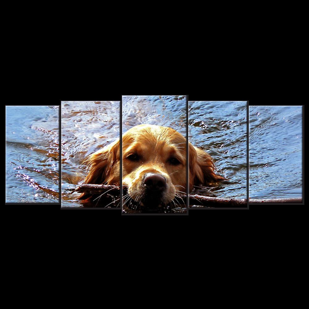 Golden Retriever Dog Canvas Muzzle Stick Swim 5 Panels Xl