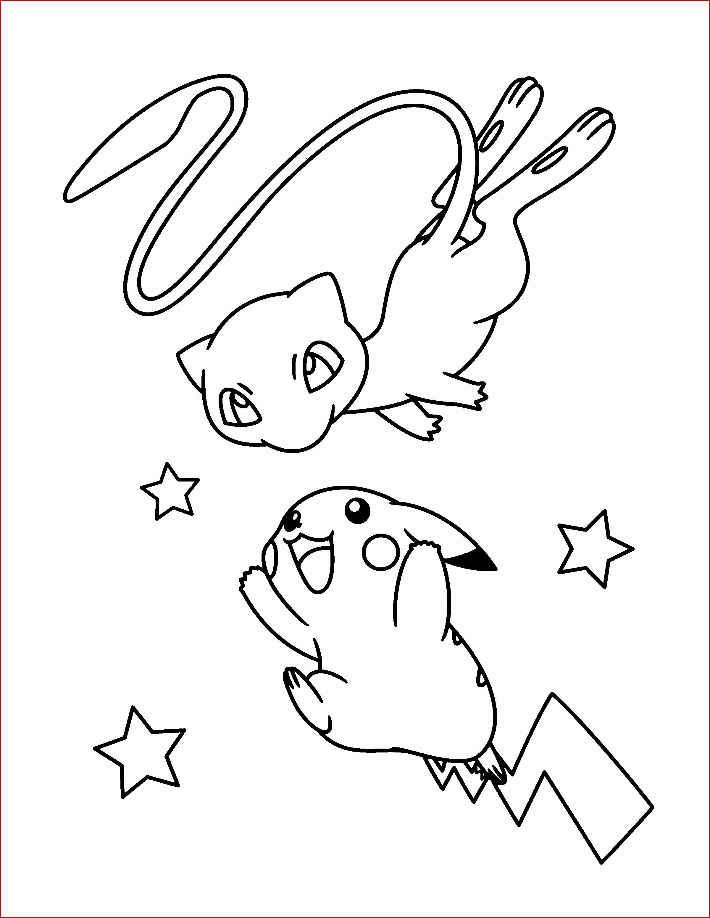 Cute Mew Coloring Pages Mew Coloring Pages Cute