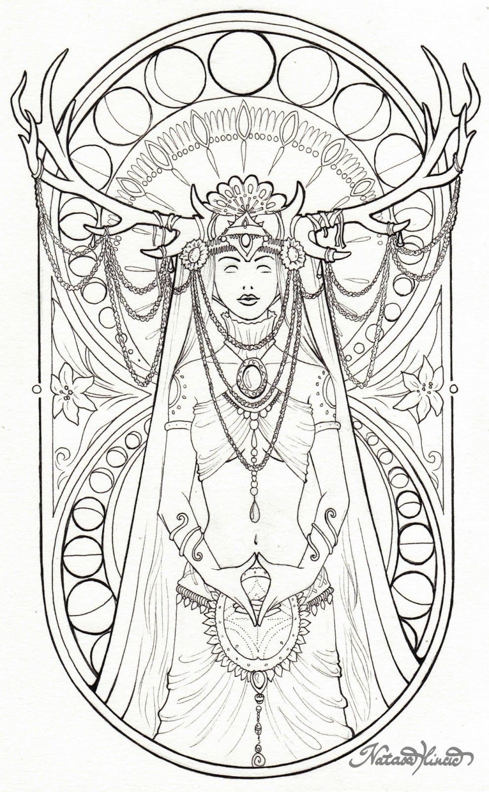Nata S Artblog Yoni Coloring Books Coloring Pages Adult