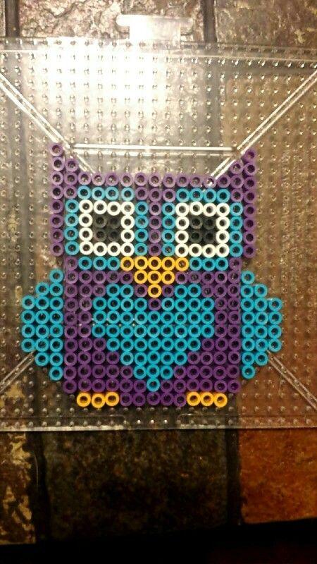 Owl perler beads Pearler Bead Patterns Pinterest Perler Beads New Owl Perler Bead Patterns