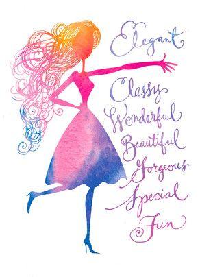 Wonderful Birthday Girl Birthday Card