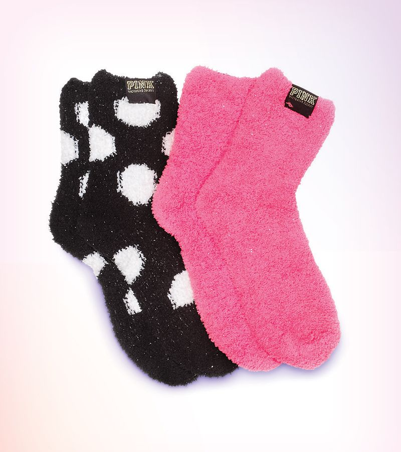 Fuzzy Christmas Slipper Socks With Images Pink Socks Fluffy