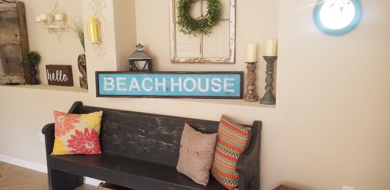 Beach House Sign Farmhouse Decor Rustic Decor Nautical Decor