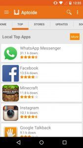 download aptoide android market