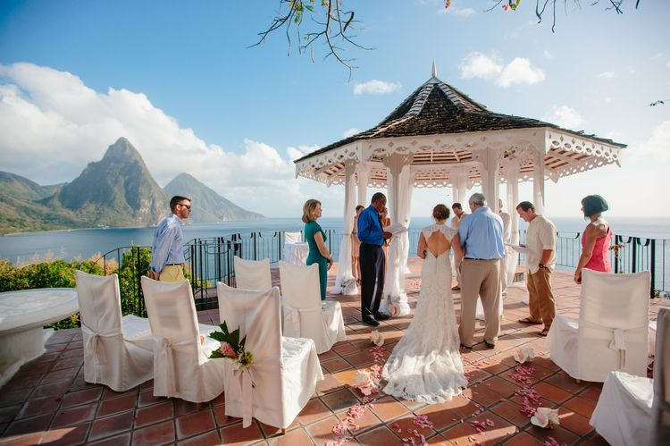 Destination Wedding At Le Gallerie In St Lucia