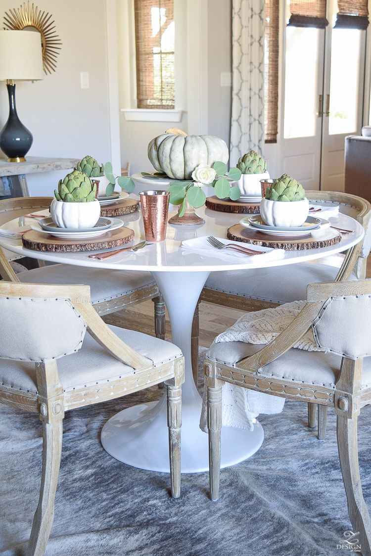 Simple Neutral Thanksgiving Entertaining Dining Room Sets Dining Table Round Dining Table